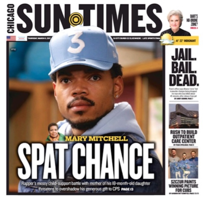 In Response • Chicago Sun-Times Embarrasses Itself, Further Alienates Young Readers With Irresponsible Chance The Rapper Cover Story